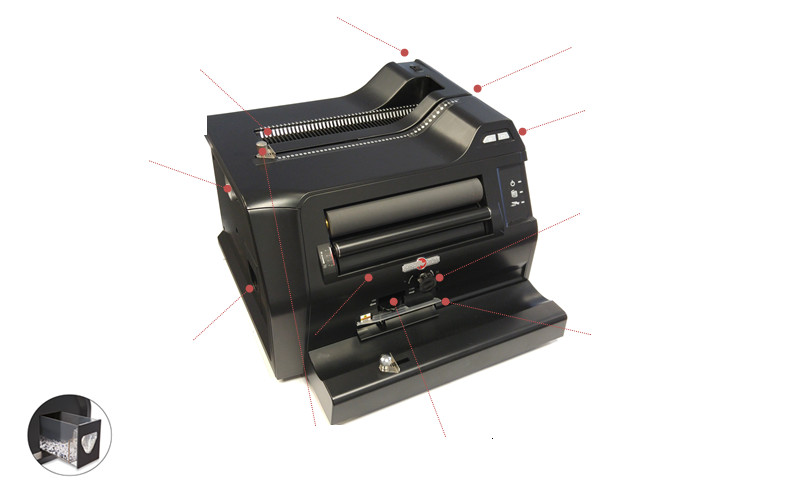 All-in-One Spiral Binding Machine Features